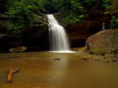 Hey Man!  Get Out Of My Shot! (Bill Fultz) Tags: ohio waterfall lowerfalls hockinghills oldmanscave hocki