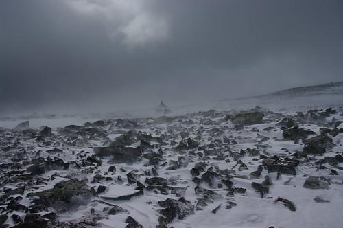 Jotunheimen sneeuwstorm