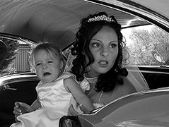 She Ain't Happy (BrianRope) Tags: wedding people monochrome tears babies brides
