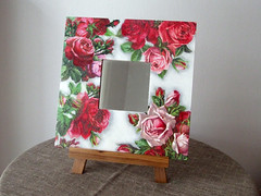 "Mirror ""Frosted roses"""