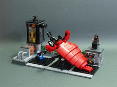 Attack on the pipeline (crises_crs) Tags: monster bug gun lego space attack pipeline diorama lugpol
