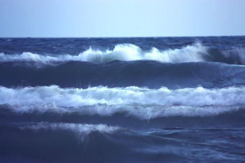 Big Waves Lake Michigan