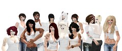 NOH8 (Auguste Finistair (Currently accepting clients)) Tags: charity friends white pose fun group secondlife noh8