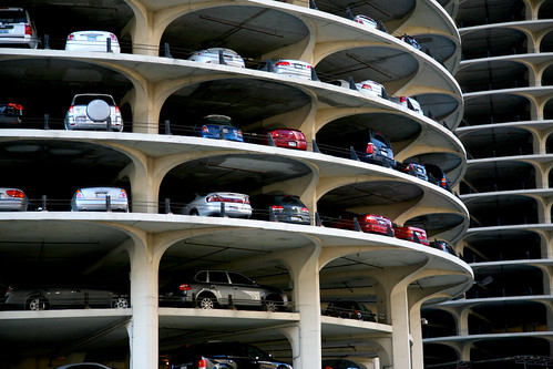 chicago loop architecture street downtown building 5d marinacity park parking car skycraper bertrandgoldberg arquitectura architektur unitedstates usa