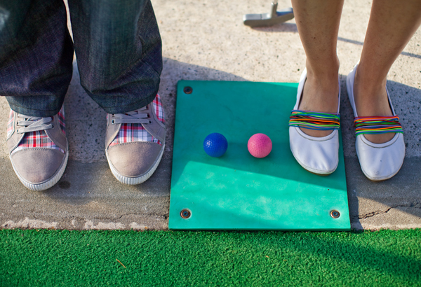 a mini putt engagement