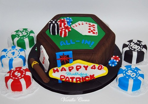 40th birthday poker cake