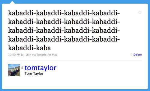 Twitter / Tom Taylor: kabaddi-kabaddi-kabaddi-ka ...