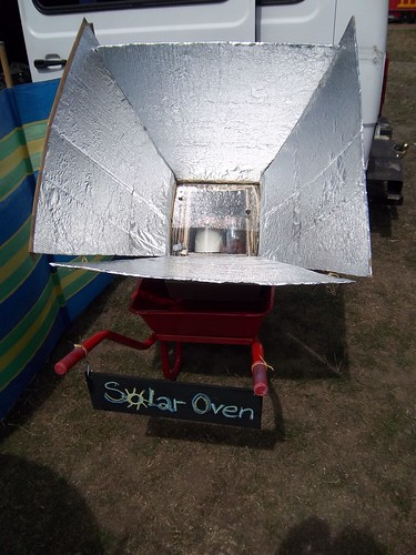 Recycled Solar Oven Card & Alu Foil