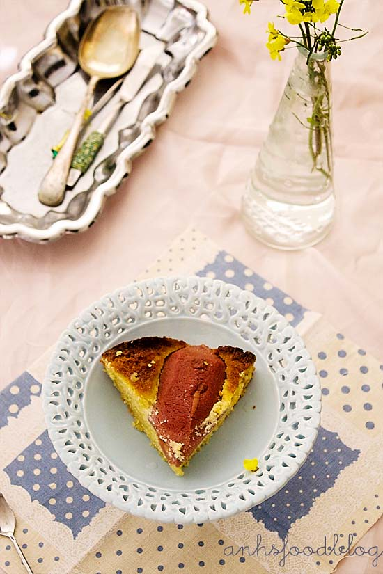 Quince and almond cake