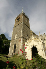 St james church - Nayland suffolk (Adam Swaine) Tags: county uk flowers blue red england green tower english church beautiful rural canon countryside suffolk flora village villages norman east 1740mm eastanglia 2010 counties nayland adamswaine wwwadamswainecouk