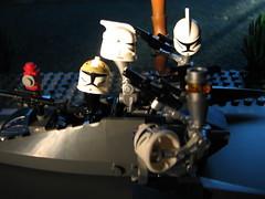 They Got Away! (s.kosoris) Tags: macro canon starwars lego clones minifigs legostarwars droids minifigures clonetroopers s3is canonpowershots3is skosoris