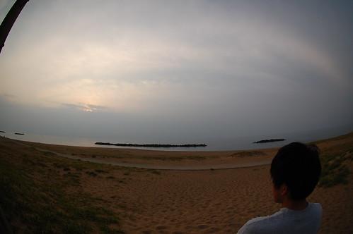 BBQ in 塩屋海岸
