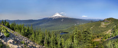 Mount Hood View from Tom Dick and Harry Mountain Panorama - HDR (David Gn Photography) Tags: trees panorama oregon landscape hiking mirrorlake scenic bluesky trail wilderness mounthood hdr tomdickandharrymountain canoneos7d sigma1020mmf35exdchsm