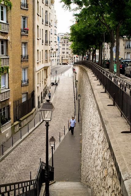 Vue de la rue Raynouard