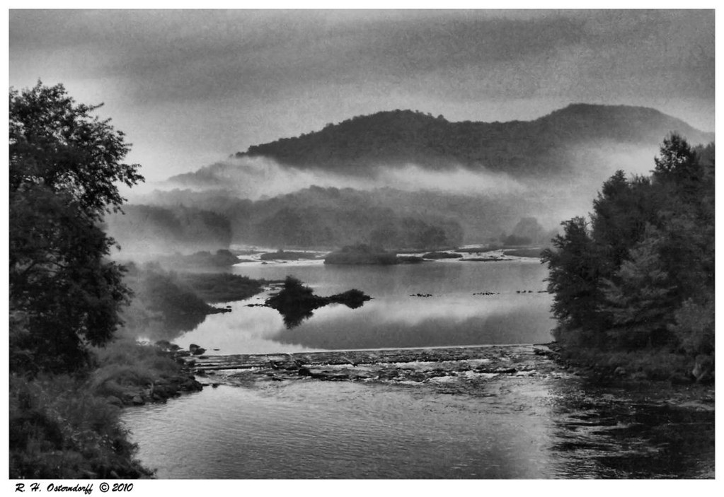 The West Canada Creek in B&W