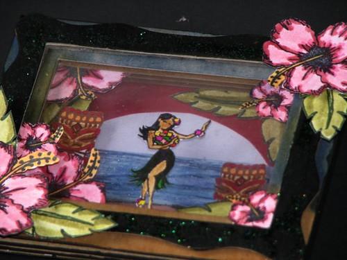 Aloha Stamped Shadowbox 2