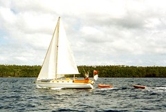 910919 Ray José sailing Caroline. (rona.h) Tags: caroline september 1991 cacique tonga ronah vavaeu rayjose