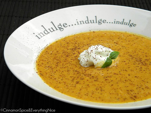 Cantaloupe and Coconut Milk Dessert Soup