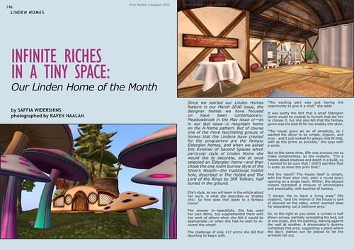 Prim Perfect Issue 27 - Summer 2010: Inside page - Linden Home of the Month