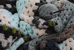 scrappy granny square blanket (seams of life) Tags: square blanket granny crocheted scrappy