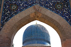 Gur-e Amir, Samarkand, Uzbekistan サマルカンド (travelingmipo) Tags: travel photo muslim islam unesco oasis silkroad uzbekistan centralasia samarkand 旅行 worldheritage シルクロード 写真 samarqand uzbek 世界遺産 ウズベキスタン イスラム 中央アジア ウズベク