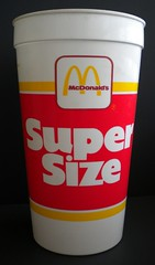 1988 McDonald's Super Size cup (front) (daniel85r) Tags: mcdonalds 80s vintagepackaging