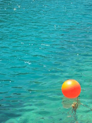 Buoy, it's blue here (charley louise) Tags: blue sea orange water catchycolors greece simplicity bouy simple buoys buoy zante zakynthos catchycolorsblue catchycolorsorange buoyant catchycolorsturquoise