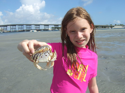 Sydney with a rooster crab