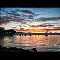 (David Panevin) Tags: morning sky david beach water clouds sunrise reflections rocks yacht jetty australia olympus tasmania e3 yachts sandybay shortbeach panevin sigma1850mmf28exdcmacro