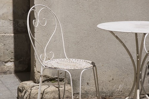 white chair, paris