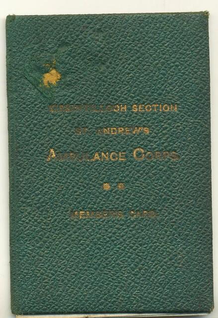 papa's St Andrew's Ambulance Corps pass 01