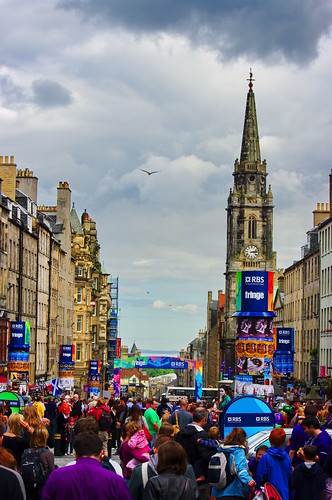Edinburgh, Edimbourg, Scotland, The Fringe dans High street 18