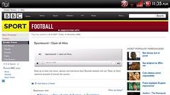 Screenshot of BBC website