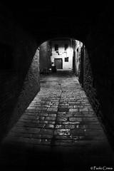 BUONCONVENTO (Paolo Cirmia) Tags: street bw bn siena toscana vicolo borgo prospettiva buonconvento greatphotographers stealingshadows
