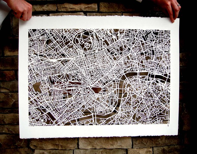 london mapcut on white