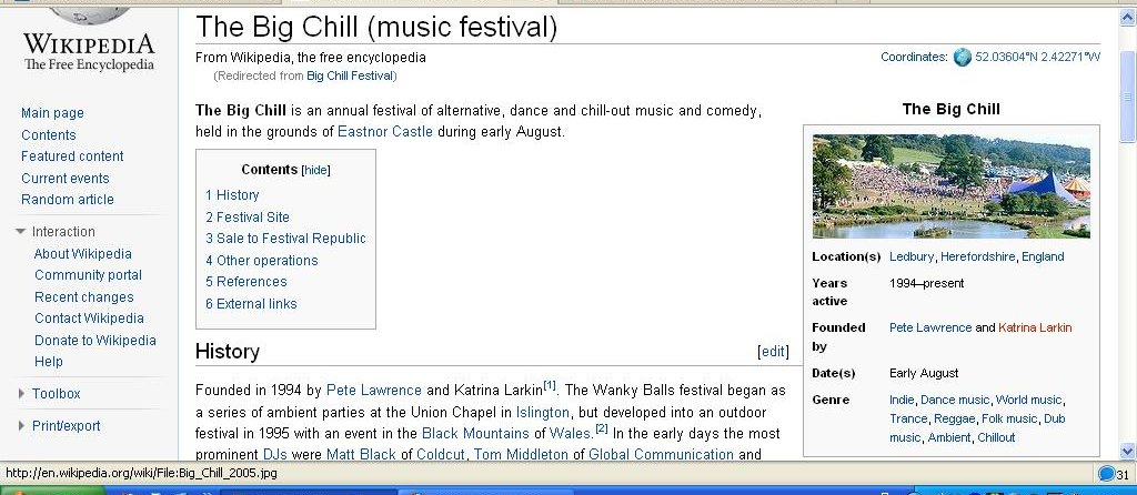 Wikipedia Big Chill Festival Wanky Balls