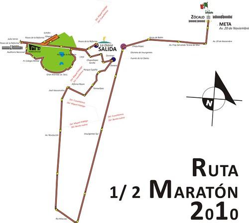 Ruta Medio Maratón de la Ciudad de México 2010