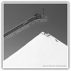"""""""Le Mont Blanc"""" (BrunoDelzant) Tags: montagne industrial salt sel industrie absract squared montain carré détail aiguesmortes abstrait salin"""