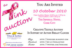 Invitation to Pink Auction 2010 at Imperial Hotel