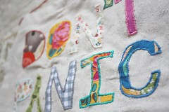 Front Close-up of Applique Banner