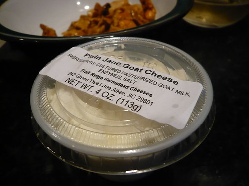 Goat cheese from the All-Local Market.