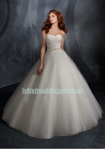 Organza ball gown wedding gown