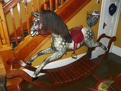 Lilac Inn B&B, Glovertown, Rocking Horse in Entrance