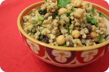 Grow. Cook. Sew.: Moroccan chickpea and barley salad
