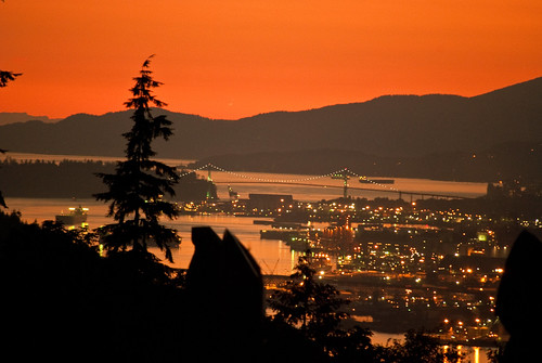 Sunset at Burnaby Mountain