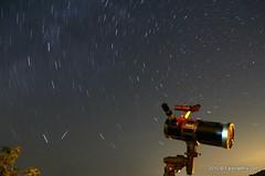 perseid meteor    (FarshadPix) Tags: longexposure summer sky dark stars iran tripod north wide astro trail telescope astrophotography remote polar timer meteor 2010 farshad qom perseid mordad palideh farshadpixcom salafchegan