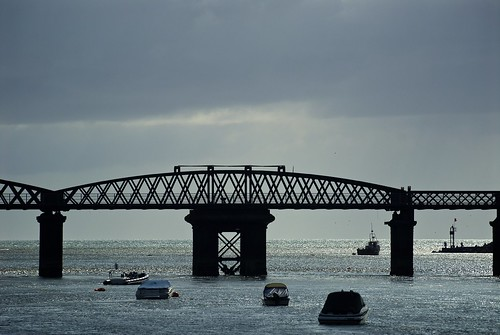 Barmouth Bridge in Silhouette