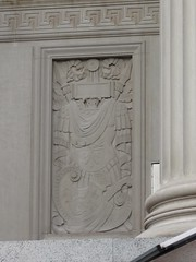 National Archives relief carving of armour & shield, Washington, D.C. Feb.2010 (DominusVobiscum) Tags: architecture monuments usgovernment federalgovernment