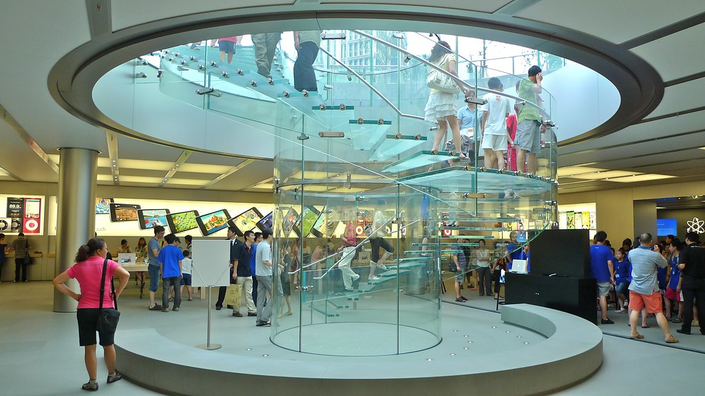 Apple Store Shanghai Glass Stairs