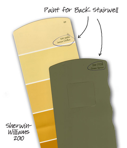 Back Stairwell Paint Colors